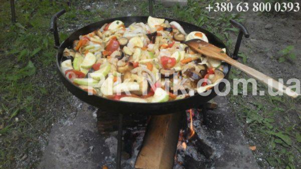 Сковорода из диска бороны, Сковорода из диска, Сковорода из бороны, сковорода для пикника, сковорода для природы, сковорода для приготовлении на природе, Сковорода из диска бороны фото