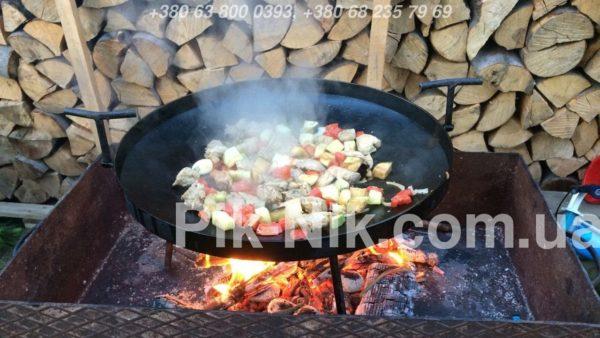 Сковорода из диска бороны, Сковорода из диска, Сковорода из бороны, сковорода для пикника, сковорода для природы, сковорода для приготовление овощей, Сковорода из диска бороны фото